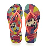 Havaianas Slim Disney Cool, Chanclas para Niñas, Multicolor (Neon Yellow 5209), 29/30 EU