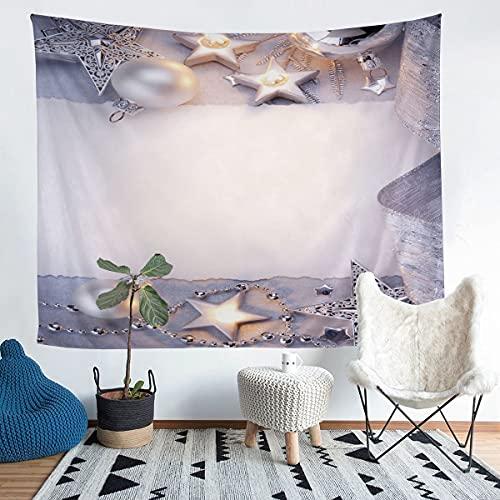 Star Decortation - Pulsera de perlas para colgar en la pared, diseño de estrella, para niños, niñas, niños, diseño de personalidad, manta de pared ultra suave, manta blanca grande de 122 x 189 cm