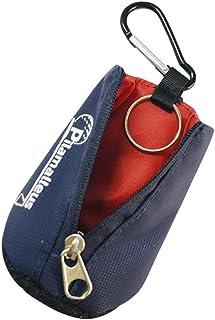 Amosfun Blauwe golf handdoek taille tas mini draagbare golf bal doek wasmachine reiniger handdoek met karabijnhaak clip vo...
