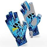 KastKing Sol Armis Sun Gloves UPF50+ Fishing Gloves UV Protection Gloves Sun Protection Gloves Men Women for Outdoor, Kayaking, Rowing, Shoreline Prym1,Large - X-Large