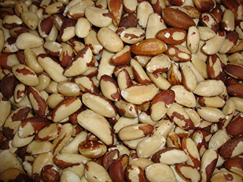 Nueces de Brasil, sin cáscara, enteras, naturales, crudas, 2 kg, bolsa resellable