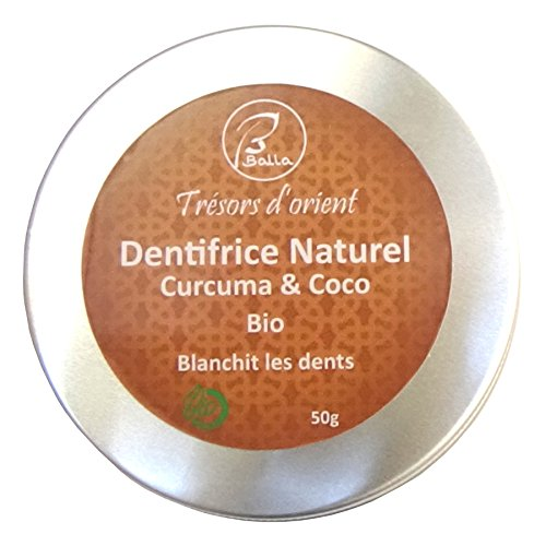 Balla - Dentifrice Curcuma coco bio et naturel Blanchit les dents