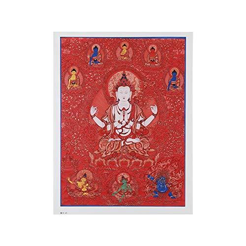 Thangka Thangka etnische stijl decoratieve schilderij woonkamer wanddecoratie schilderijen beschikken over Tibetaanse Tibetaanse cultuur schilderijen (Color : Tangka, Size (Inch) : 55X74.7cm)