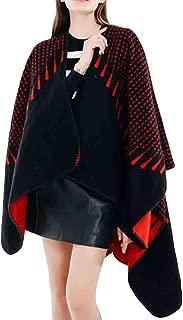 YKARITIANNA Women Soft Loose Comfy Tassel Free Size Cover Up Roomy Dot Pattern Tartan Coat Wrap Cozy Shawl