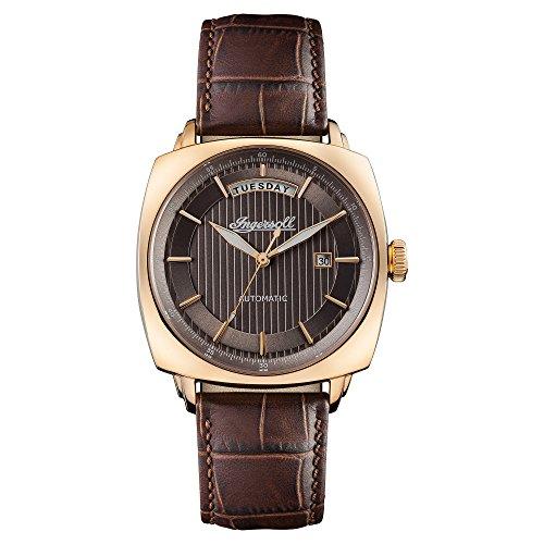 Ingersoll Herren Datum klassisch Automatik Uhr mit Leder Armband I04203