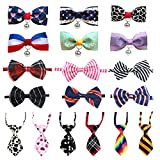 LZYMSZ Pet Bow Tie, 18 Pack Dog Cravatta Regolabile Colletto Butterfly Knot Puppy Cravatte Bell Bowtie, S/M/L Cani/Gatti Accessori per Festival Party/Fotografia/Regali di Festa(Collar)