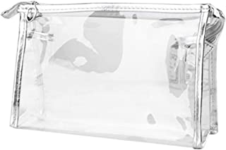 Inverlee 1X Clear Transparent Plastic PVC Travel Cosmetic Make Up Toiletry Bag Zipper