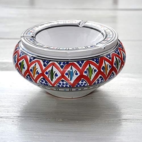 YODECO - Cendrier marocain Bakir Rouge - Grand modèle