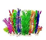 BEGONDIS - Plantas de agua artificiales de color naranja hechas de plástico suave, seguro para todos los peces y mascotas