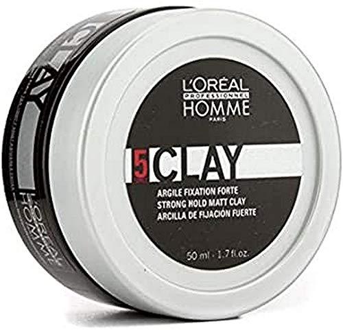L'Oréal Professionnel - Crème Coiffante pour Cheveux Homme - CLAY - 50ml