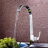 Elegante e facile da indossare robusto rame caldo e freddo rubinetto della cucina traduzione bacino lavabo rubinetto singolo foro rotazione universale di 360 gradi
