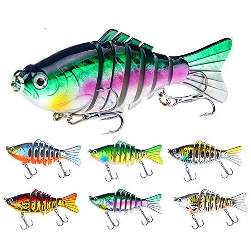 5 unids/Set 15.6g 10 cm 7 SECCIÓN SWIRBAET Duro CAIT FESERTURA DE Pesca A LUSE DE Pesca DE LOS Regalos DE Pesca para Hombres para Hombres Accesorios MARACHER