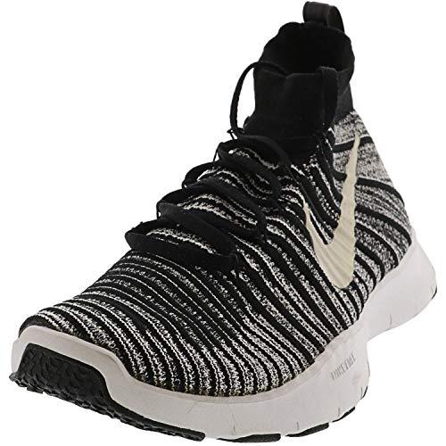 Nike Free Train Force Flyknit 833275 002 (14, Black/White/Grey)
