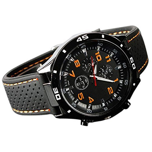 Catnew Mens Racer Military Pilot Aviator Army Style Silicone Sport Wrist Watch