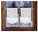 2er Set Scheibenhänger STERNENGLANZ Weihnachtsgardine winterliche Landhausdeko