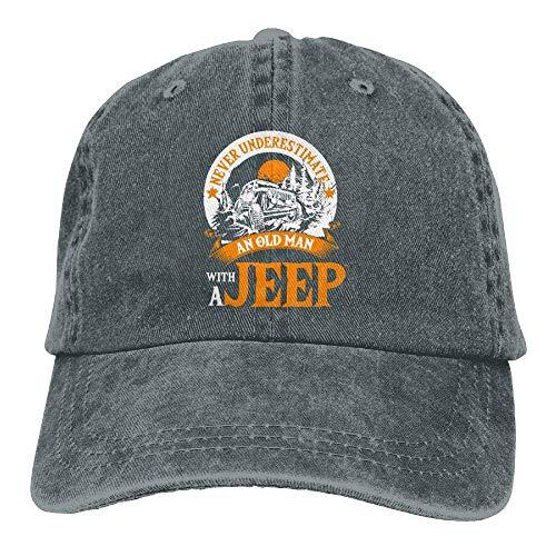 UUONLY EIN Alter Mann mit einem Jeep-T-Shirt Denim Cap Klassische Baseball-Mütze Frauen & Männer