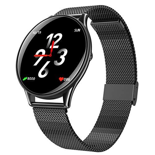 LTLJX Smartwatch, Reloj Inteligente 1.3 Inch con Control de Podómetro Pulsómetro Cronómetro Calorías Monitoreo del Sueño, Pulsera Actividad de Fitness IP67 para Hombre Mujer,Negro