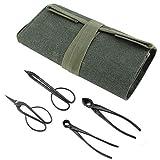 Cuque Bonsai Tool Set, Bolsa de Lona Multifuncional para Almacenamiento de Herramientas con Bonsai Crafting Trimming Tool Set