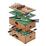 5 in 1 deluxe holzern kompendium von spiele, tablet Spiele set Billiard Tablet, football Tablet, tischtennis, schach und backgammon Set -