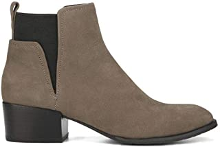 Kenneth Cole New York Women's Artie Pull On Ankle Bootie Low Heel Nubuck