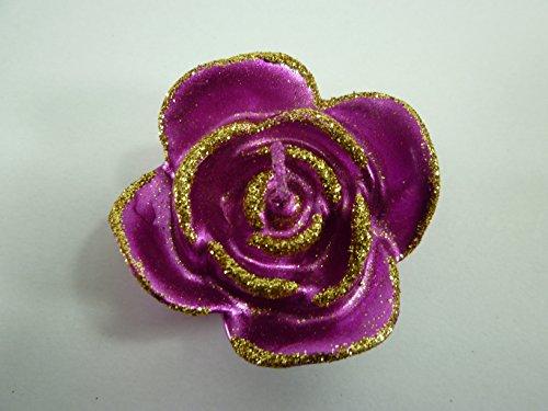 Bella-Vita GmbH 2 x 2er Set Kerzen in Rosenform, Farbe pink