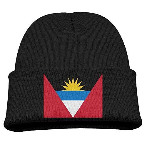 DearLord - Gorro de invierno para niños, diseño de bandera de Antigua y Barbuda, unisex, color negro