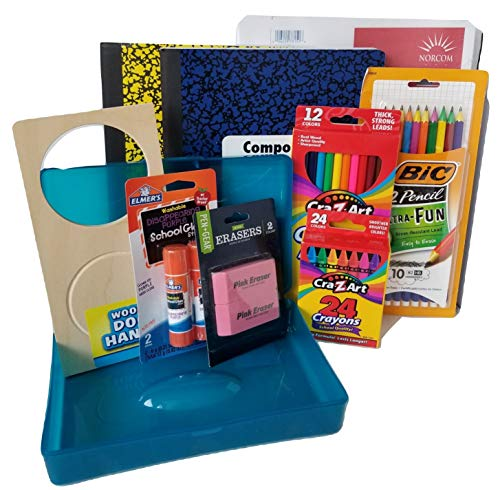 School Starter Kit (Kinder to 4th Grade) - Back to School Essentials Supplies Bundle with Door Hanger