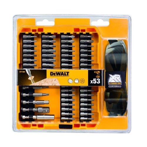 DeWalt DT71550-QZ (Schrauberbit Set 53-tlg. inkl. Schutzbrille in robustem Tough Case, hochwertiger Magnet Bithalter integriert)