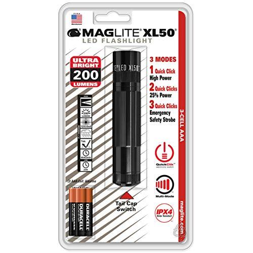 MAG-LITE(マグライト)ミニマグライトXL50LED(単四3本)XL50-S3016Yブラック