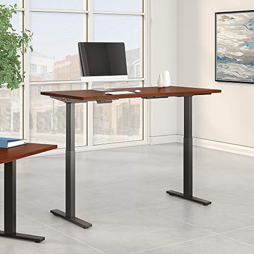Bush Business Furniture Move 60 Series Height Adjustable Standing Desk, 72W x 30D, Hansen Cherry with Black Base