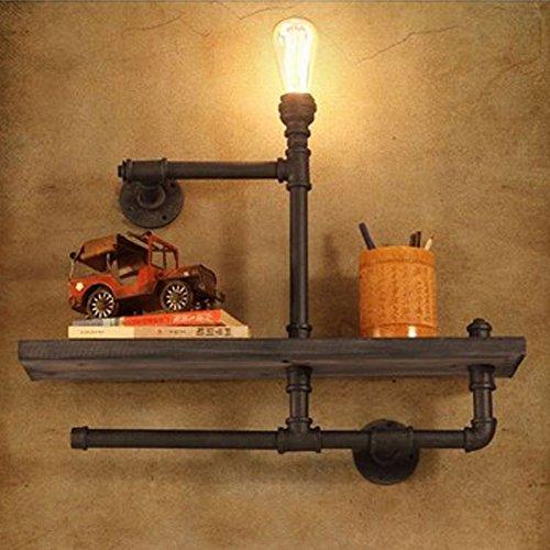 WLH- Loft Personality Creative Loodgieters Bookshelf Wandlamp Retro Industrial Study Decorative Lamp Muur Hose Wandlamp (Color : A)