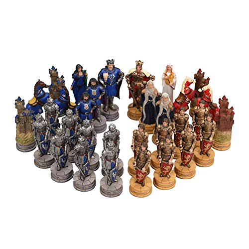Solo piezas de ajedrez, piezas de ajedrez de resina de primera calidad, juego de ajedrez de ajedrez en 3D juego de mesa de ajedrez, mesa de café decorativa pieza decorativa personalizada regalos