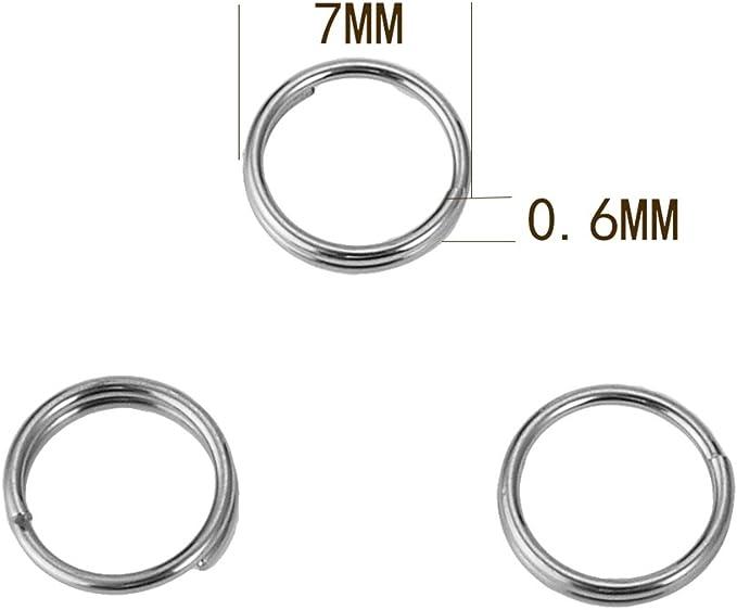21 St/ück Edelstahl Sprengring Split Rings Splitringe /Ø5,0mm//8kg