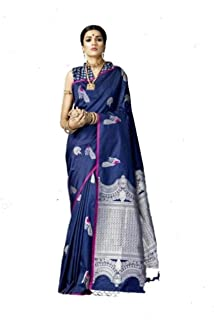 GRAB MANTRA SILK AND COTTON SAREES, Festival Traditional soft silk collection with peacock design all over the saree with ...