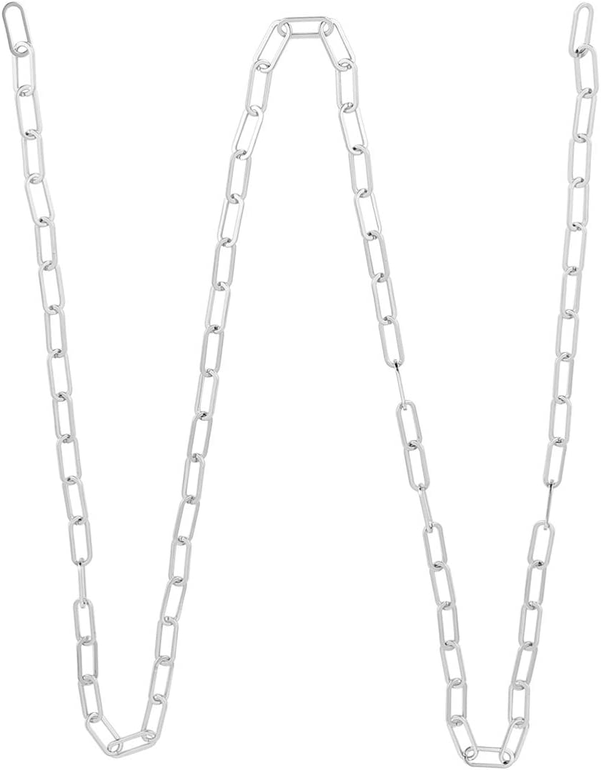 HEALLILY Paperclip Necklaces Cheap mail order shopping Stainless Kansas City Mall Chain Link Necklace Steel