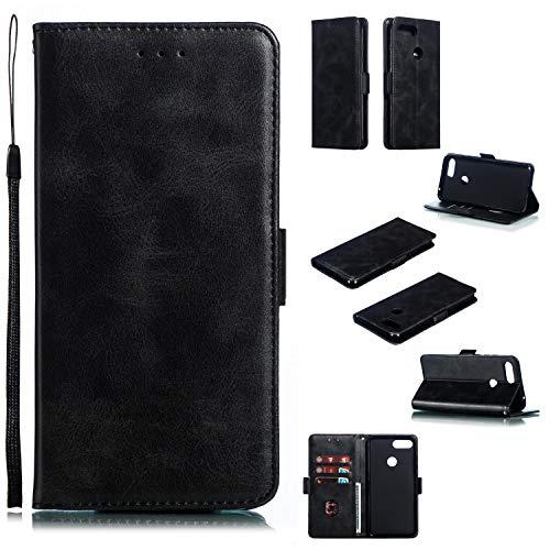 Snow Color [Xiaomi Mi 8 Lite Hülle, Premium Leder Tasche Flip Wallet Case [Standfunktion] [Kartenfächern] PU-Leder Schutzhülle Brieftasche Handyhülle für Xiaomi Mi8 Lite - COYKB010600 Schwarz