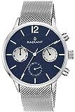 Reloj Radiant para Hombre con Correa Plateada y Pantalla en Azul RA418704