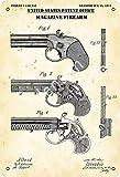 NOT Gun Patent Print Map Magazine Firearm Firmar Hierro Pintura Estaño Pared Retro Decorativo Artesanía para Casa Cocina Regalo Bar Garaje Café Hotel Club Oficina