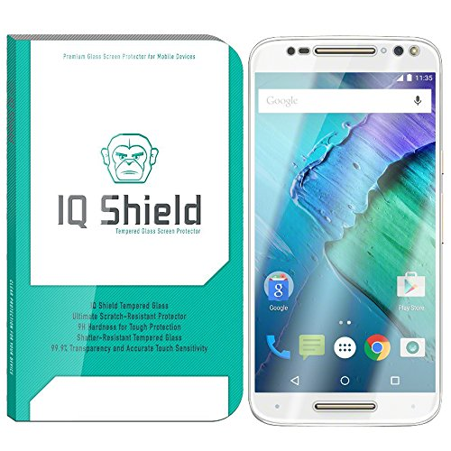 Motorola Moto X Pure Edition Screen Protector, IQ Shield Tempered Ballistic Glass Screen Protector for Moto X Pure Edition (Moto X Style) 99.9% Transparent HD and Anti-Bubble - with