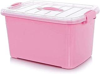AINIYF Multi-Layer Medicine Box Household Large Plastic Medicine Storage Box Portable Medical Box First Aid Kit (Color : Pink, Size : 35x24x19.5cm)