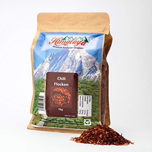 chiliflocken zum abnehmen 1kg chiliflocken aus Indien chili für mühle