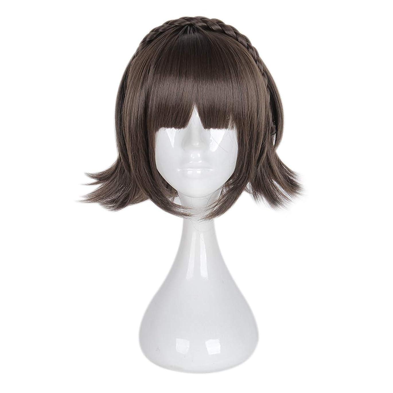 申請中剪断製造業JIANFU 少女チー劉ハイファツイストショートヘアコスプレウィッグスーパーかわいいアンチワーピングヘア (Color : ブラウン)