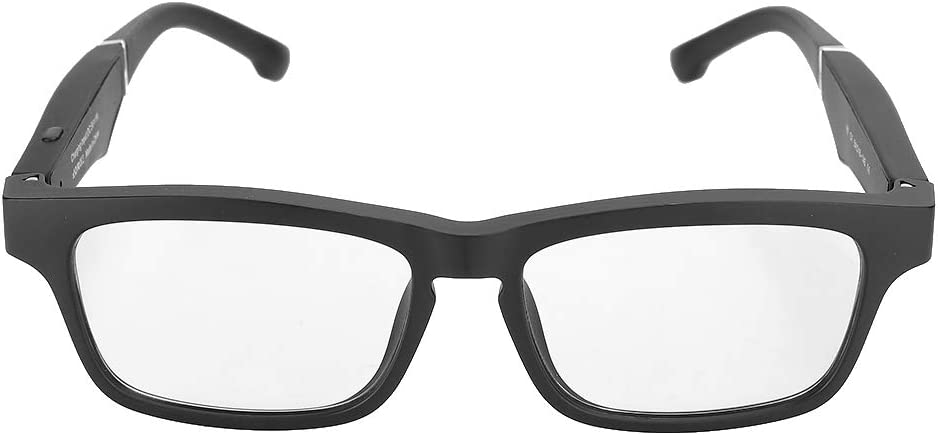Smart Glasses Bluetooth Lightweight Portable 5.0 USB Smart Polarized Glasses Wireless Music Call Earphone Sunglasses(Black)