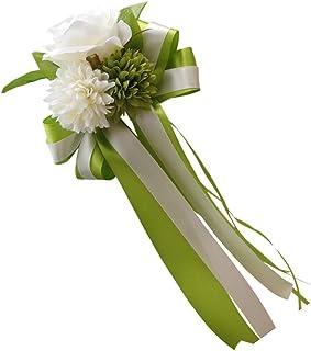 MagiDeal Autoschleifen Hochzeit Antennenschleifen Blume Dekoration für Hochzeit - Grün, 30 x 15 x 8 cm