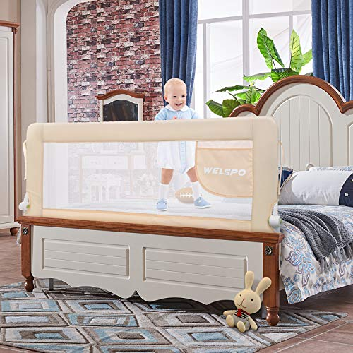 WELSPO Fold Down Safety Baby Bed Guard and Rails