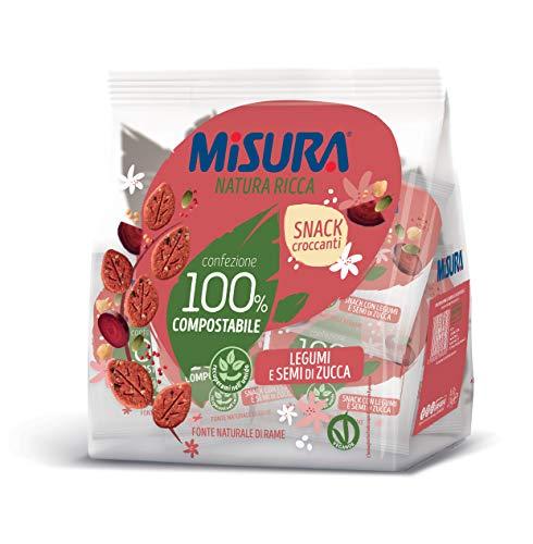 Misura Snack Croccanti Natura Ricca con Legumi e Semi di Zucca   Confezione da 224 grammi