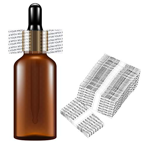 Shrink Bands,45x23mm 200Pcs Printed Perforated Heat Shrink Wrap Sealer for 1oz Glass Bottle Cap Fits 3/4' to 1' Diameter