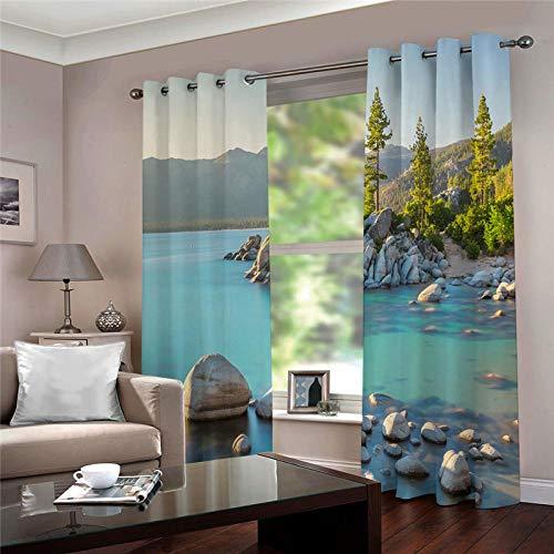 cortinas opacas salon 2 piezas