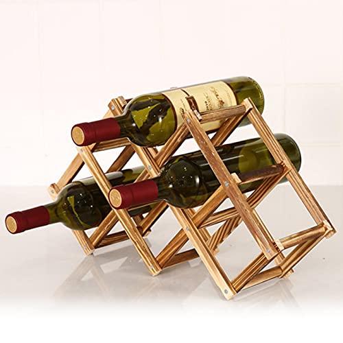 Miner Soportes para Botellas de Vino de Madera, creativos prácticos, Plegable, Sala de Estar, Armario Decorativo, estantes de Almacenamiento de exhibición de Vino Tinto