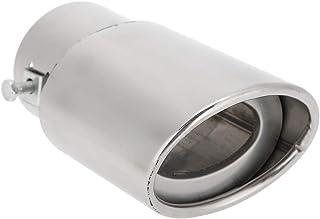 per la maggior parte delle automobili con tubo curvo diametro 5,3-3,8 cm Terminale di scarico automatico del tubo di coda del silenziatore di scarico Terminale di scarico in acciaio inossidabile